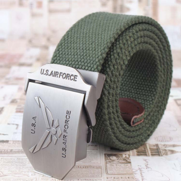Automatic Belt Buckle - USA Air Force, Mens Boy Gay - Metal Field