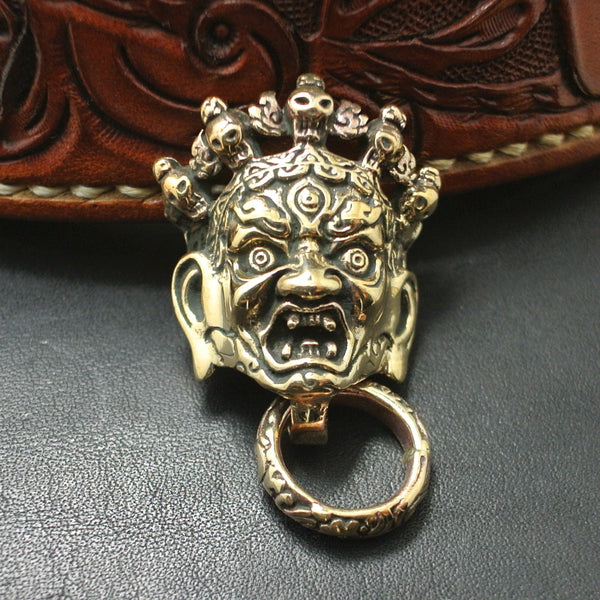 Hinduism Mahakala Lethercraft Conchos With Ring Screwback Copper Studs Leather Sewing Rivets - Metal Field
