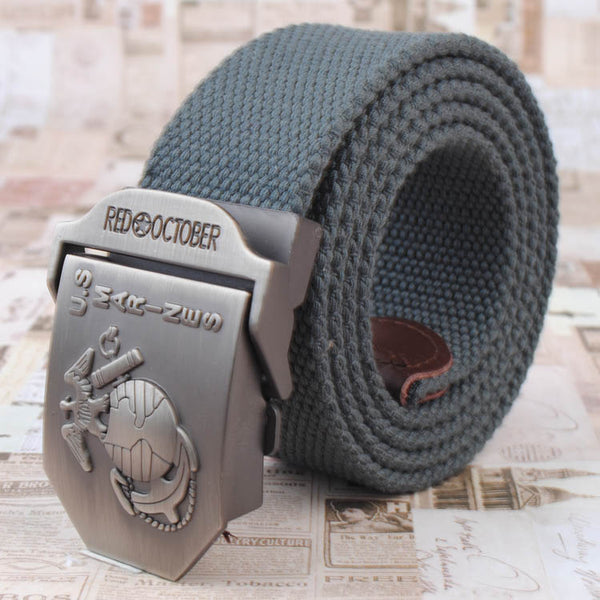 Automatic Buckle Belt - U S Marines Zinc alloy buckle - Metal Field