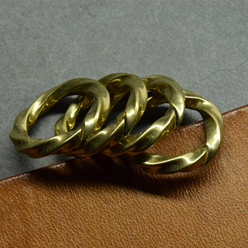 Brass Twist Split Ring Art Deisgn - Metal Field