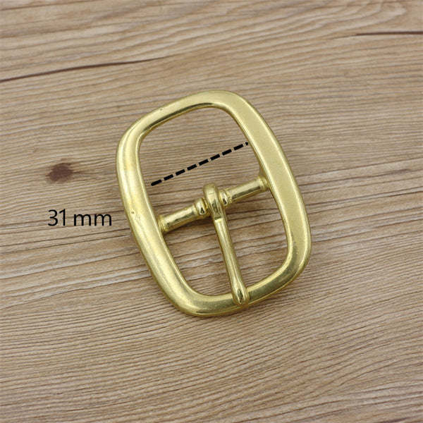 31 mm Brass Pin Buckle Women Belts - Metal Field