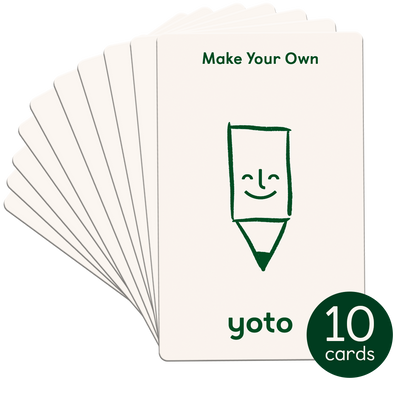 Make Your Own Cards (Pack of 10) with 3 Sticker Sheets