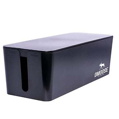 Cable Management Box Organizer - Black
