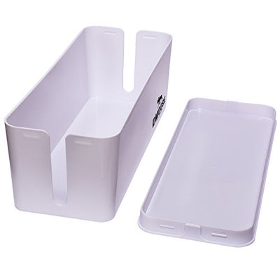 Cable Management Box Organizer - White