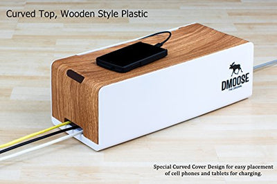 Cable Management Box Organizer - Curved Top