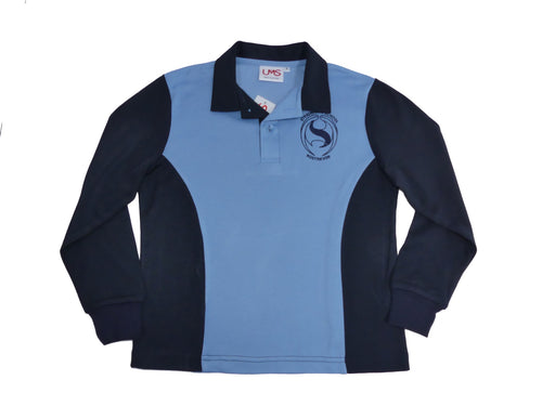 STD Polo L/ S Navy/Sky