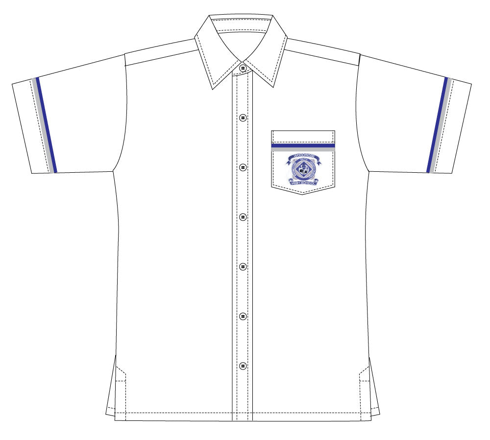 WHO Snr White Short Sleeve Shirt