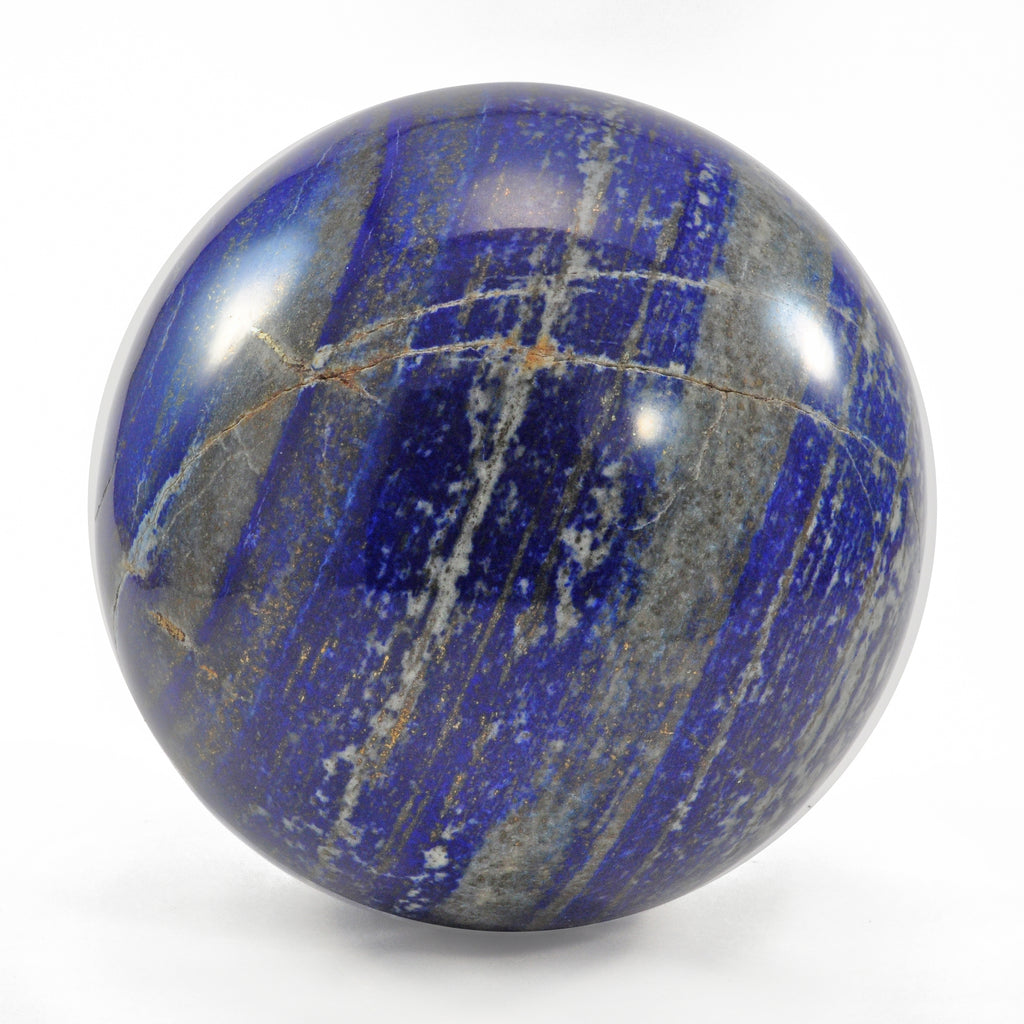 Lapis Lazuli 4.8 inch 6.4 lbs Natural Crystal Polished Sphere - Afghanistan