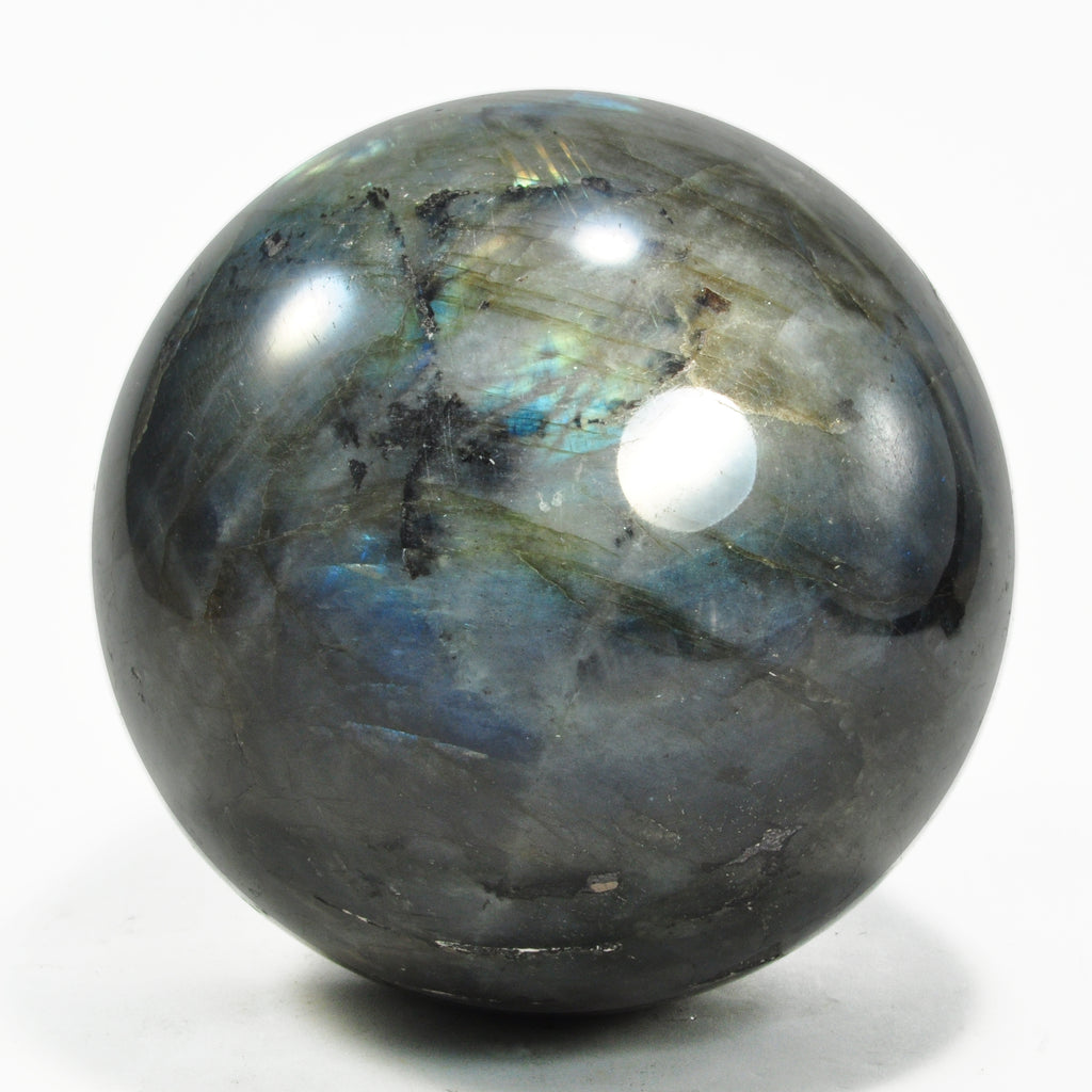 Labradorite 4.17 inch 3.93 lbs Natural Crystal Sphere - Madagascar