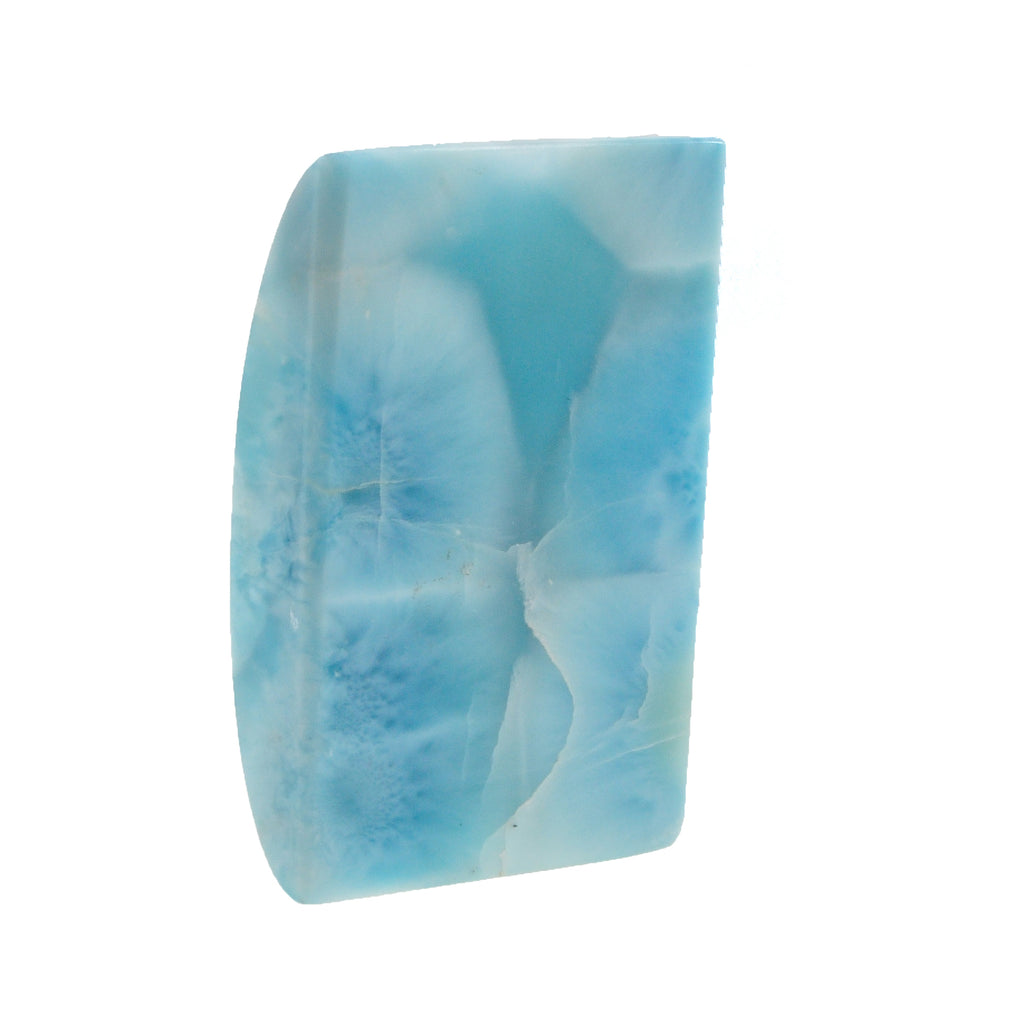 Larimar 1.91 inch 35.5 gr Semi-Domed Rectangle Natural Crystal Cabochon