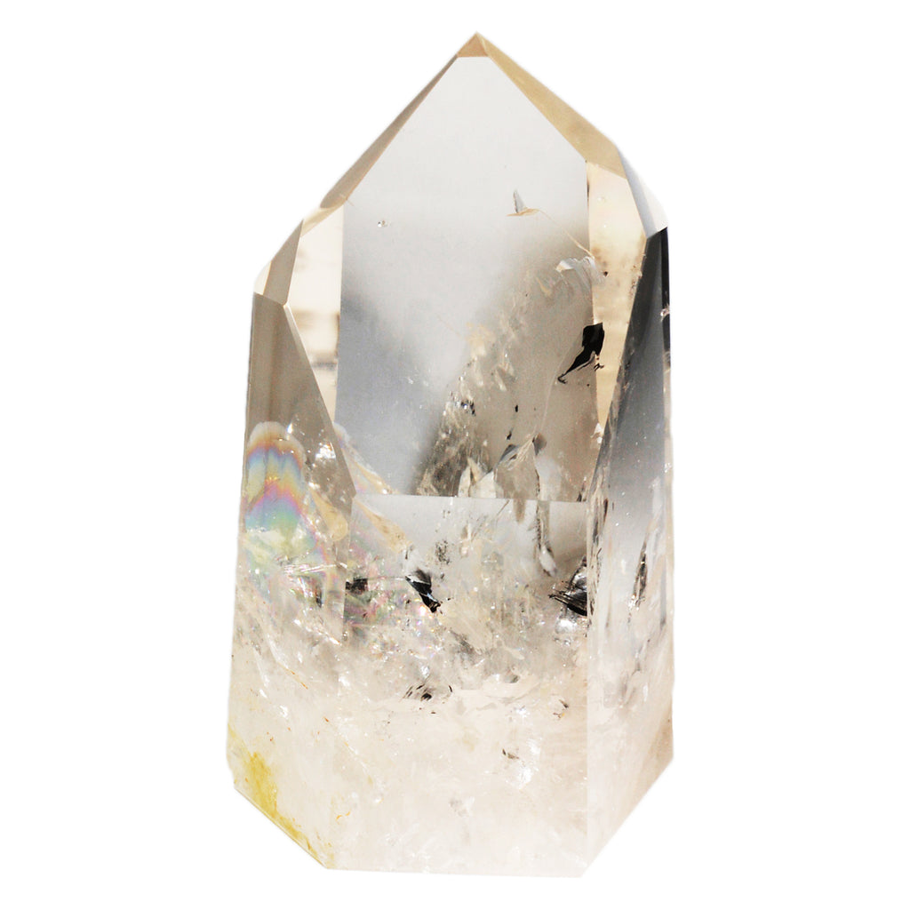 Quartz 7.0 inch 4.5 lbs Crystal Polished Point - Brazil