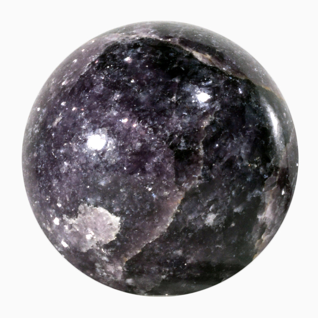 Lepidolite 2.39 inch 336.8 gram Natural Crystal Sphere - India