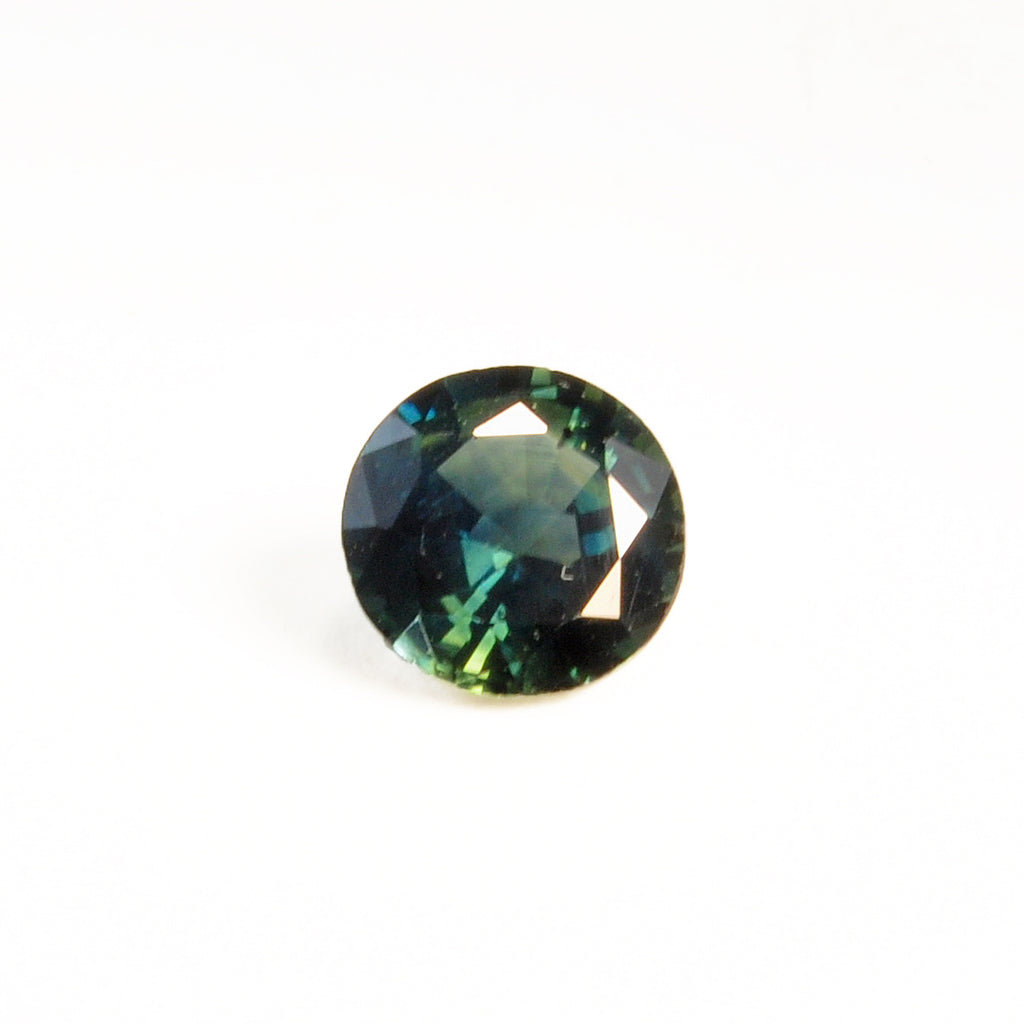 Blue Green Sapphire 1.29ct Round Faceted Gemstone