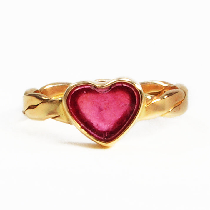 Pink Tourmaline 1.90ct 10.52mm Natural Crystal 14K Handcrafted Gemstone Heart-Shaped Ring