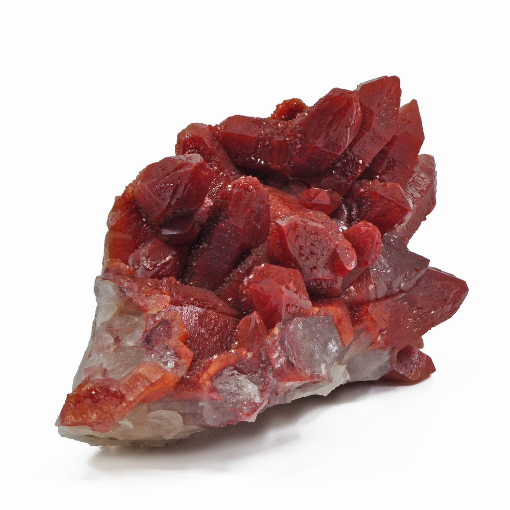 Red Quartz 8 inch 2.91 lbs Natural Crystal Cluster - Morocco