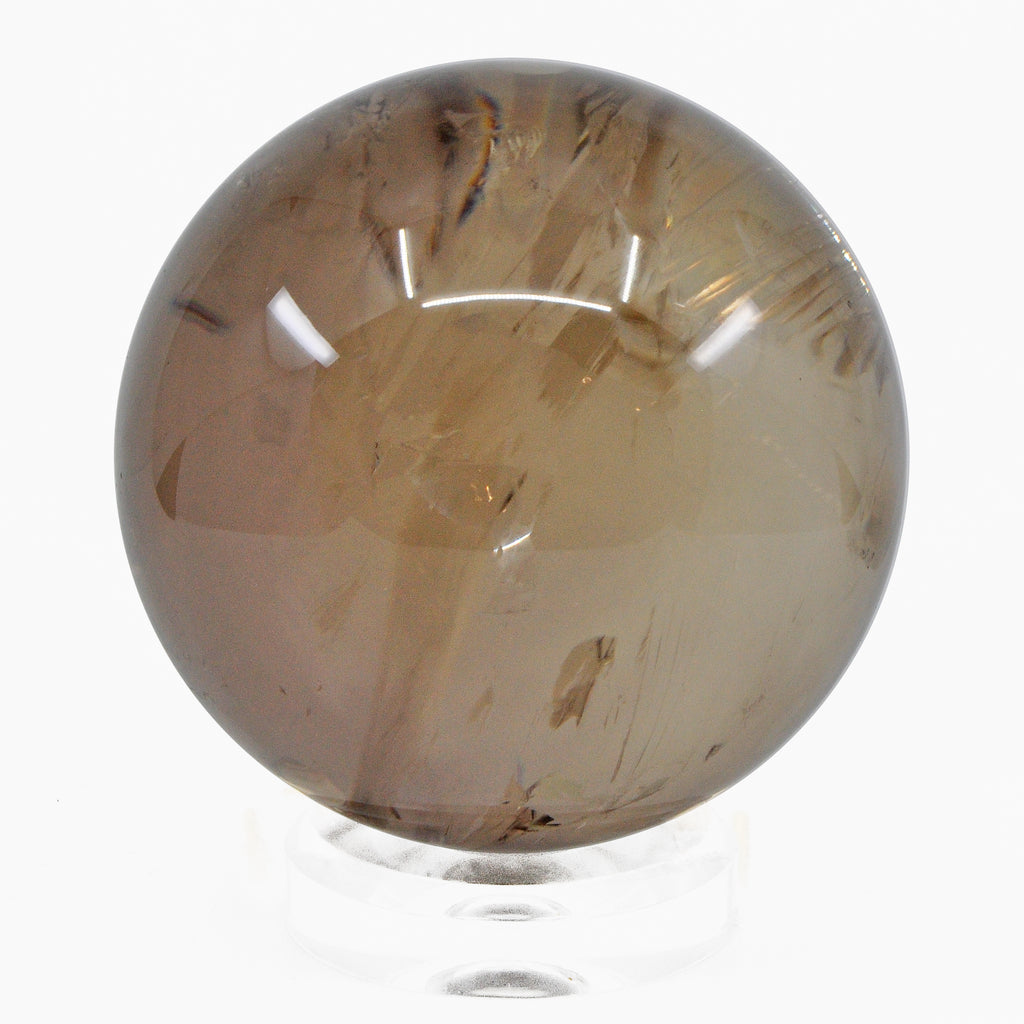"Exceptional Smoky Quartz 5.09"" Natural Crystal Sphere - Brazil"