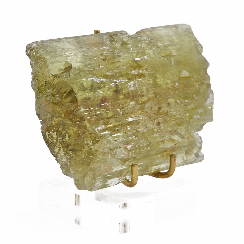 Hiddenite 3.31 inch 178.6 gram Natural Spodumene Gem Crystal