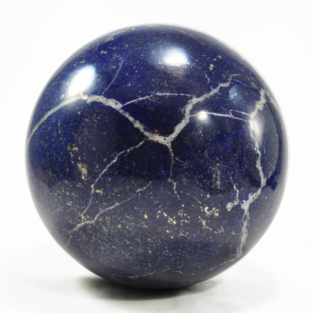 Lapis Lazuli 5.6 inch 9.46 lbs Natural Crystal Polished Sphere - Afghanistan
