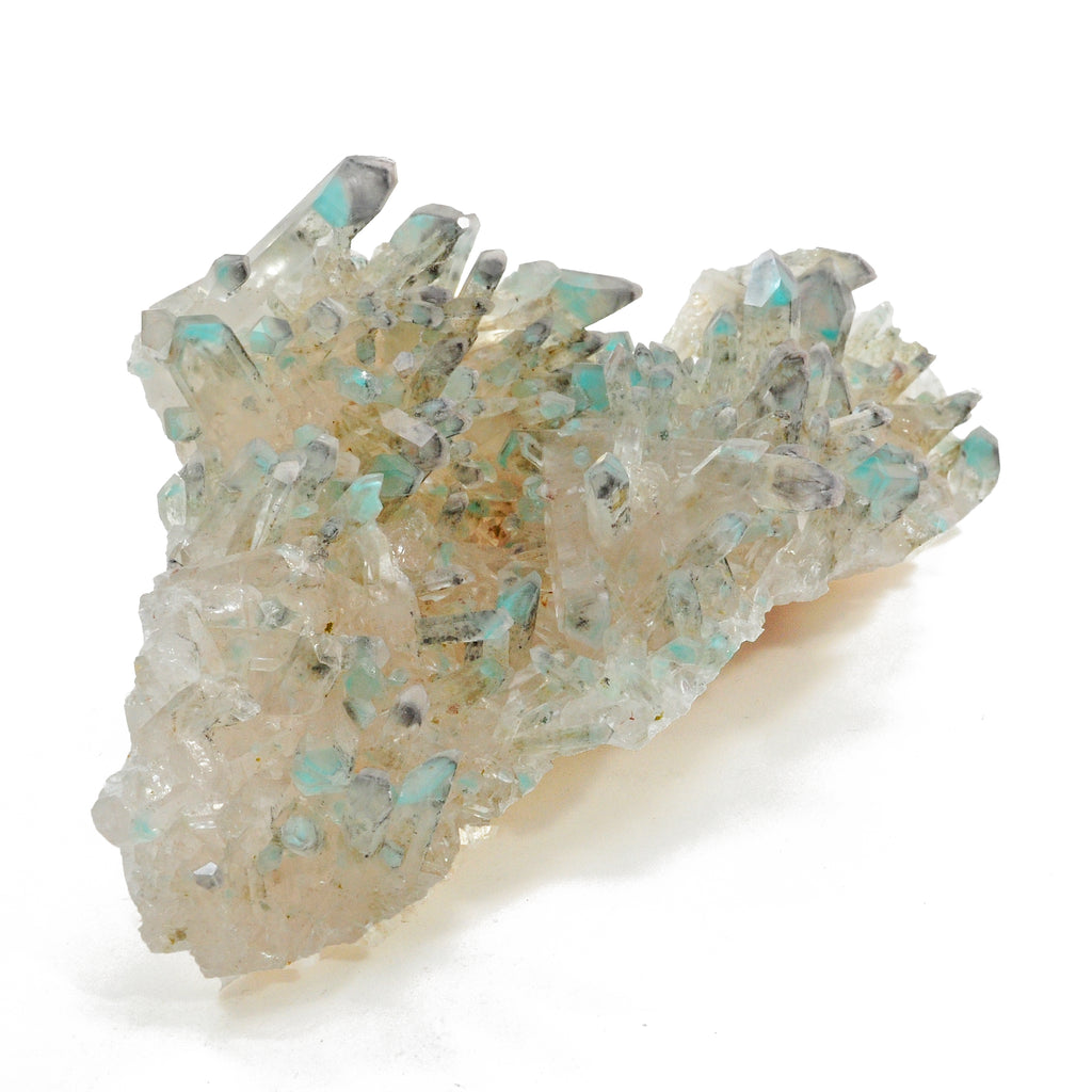 Ajoite in Quartz 7.0 inch 1.14 lbs Natural Crystal Cluster - South Africa
