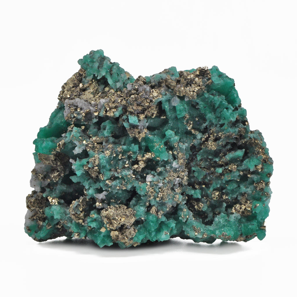 Emerald 3.16 inch 167.3 gram with Pyrite Natural Gem Crystal Cluster - Colombia