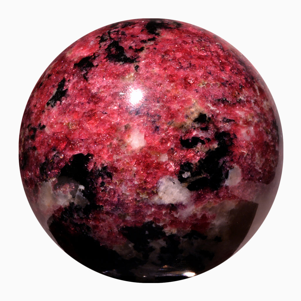 Eudialyte 3.03 inch 1.57 lbs Natural Crystal Sphere - Canada
