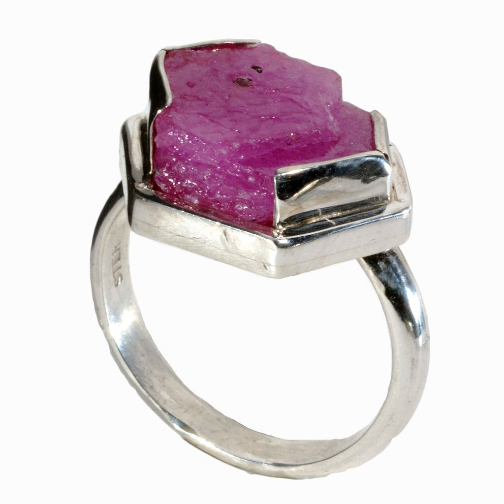 Ruby 9.99 carat Natural Gem Crystal Sterling Silver Handcrafted Ring