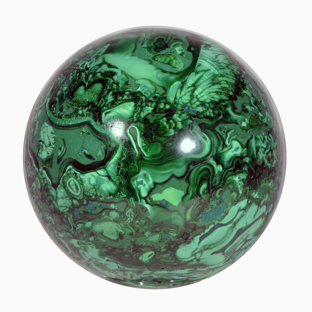 Malachite 3.8 inch 3.95 lbs Composite Crystal Sphere - Congo