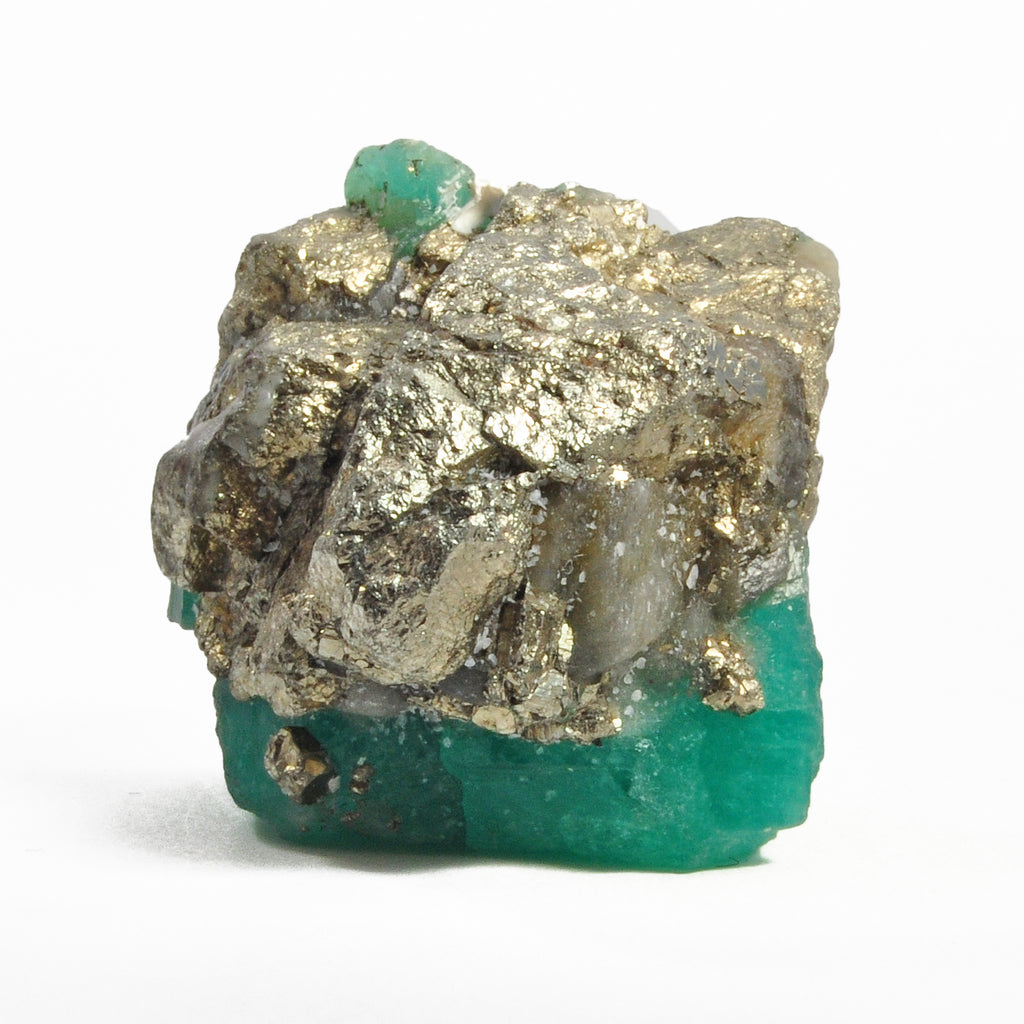 Emerald 1.23 inch 31.6 gr Natural Gem Crystal with Pyrite - Colombia