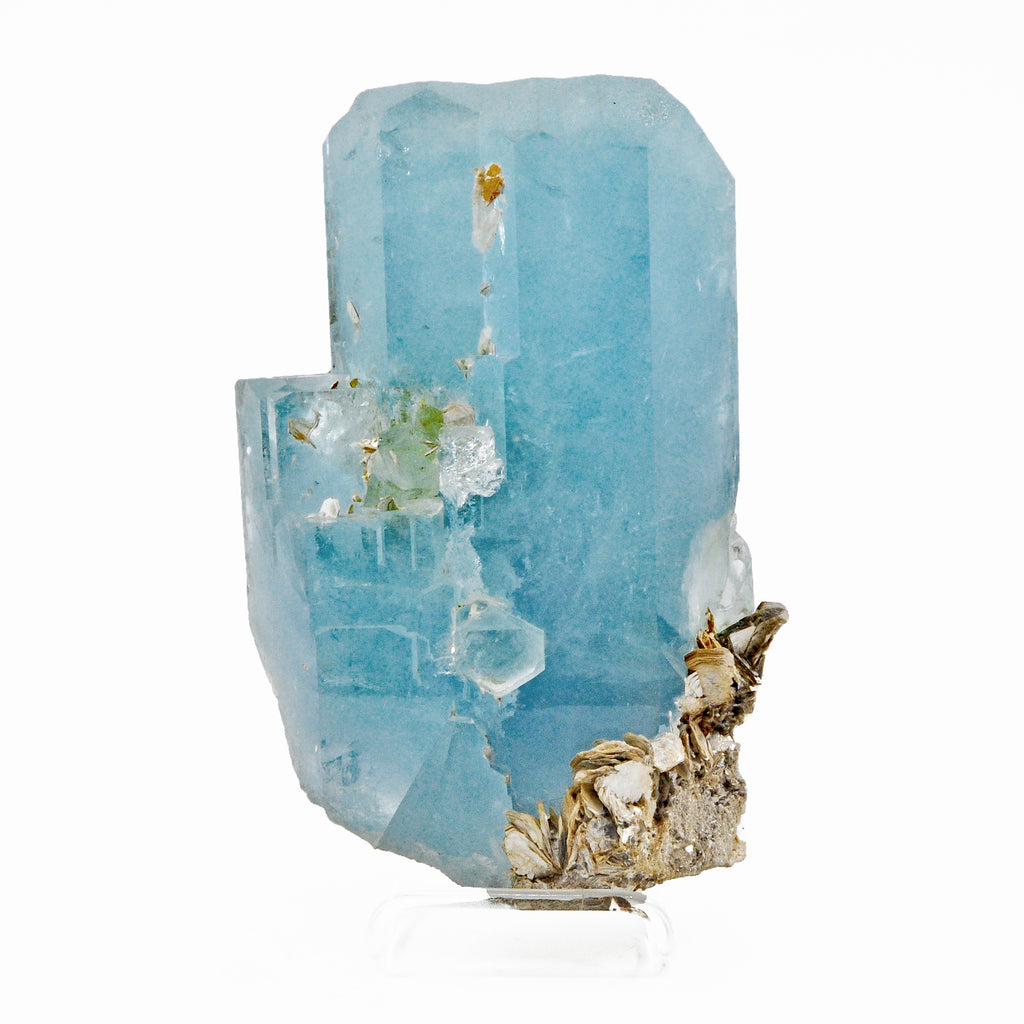 Extraordinary Aquamarine 10 lbs 9.8 inch with Mica Natural Gem Crystal - Pakistan