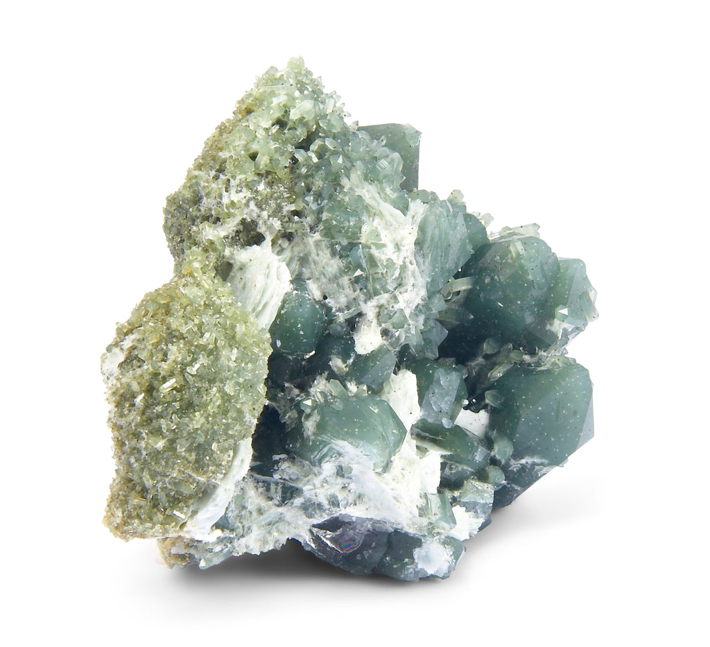 Green Quartz 4.76 inch 1.74 lbs Natural Crystal Cluster - China