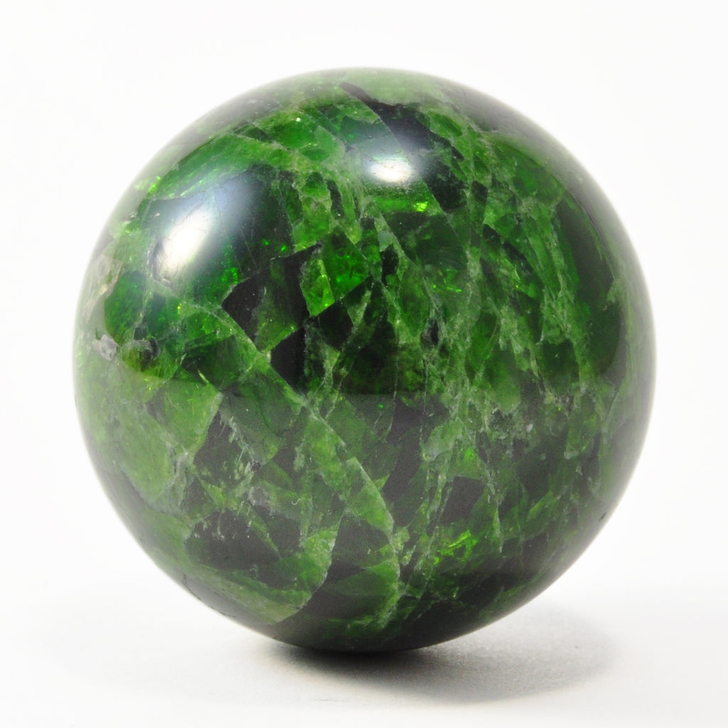 Chrome Diopside 1.45 inch 84 gram Crystal Sphere - Russia