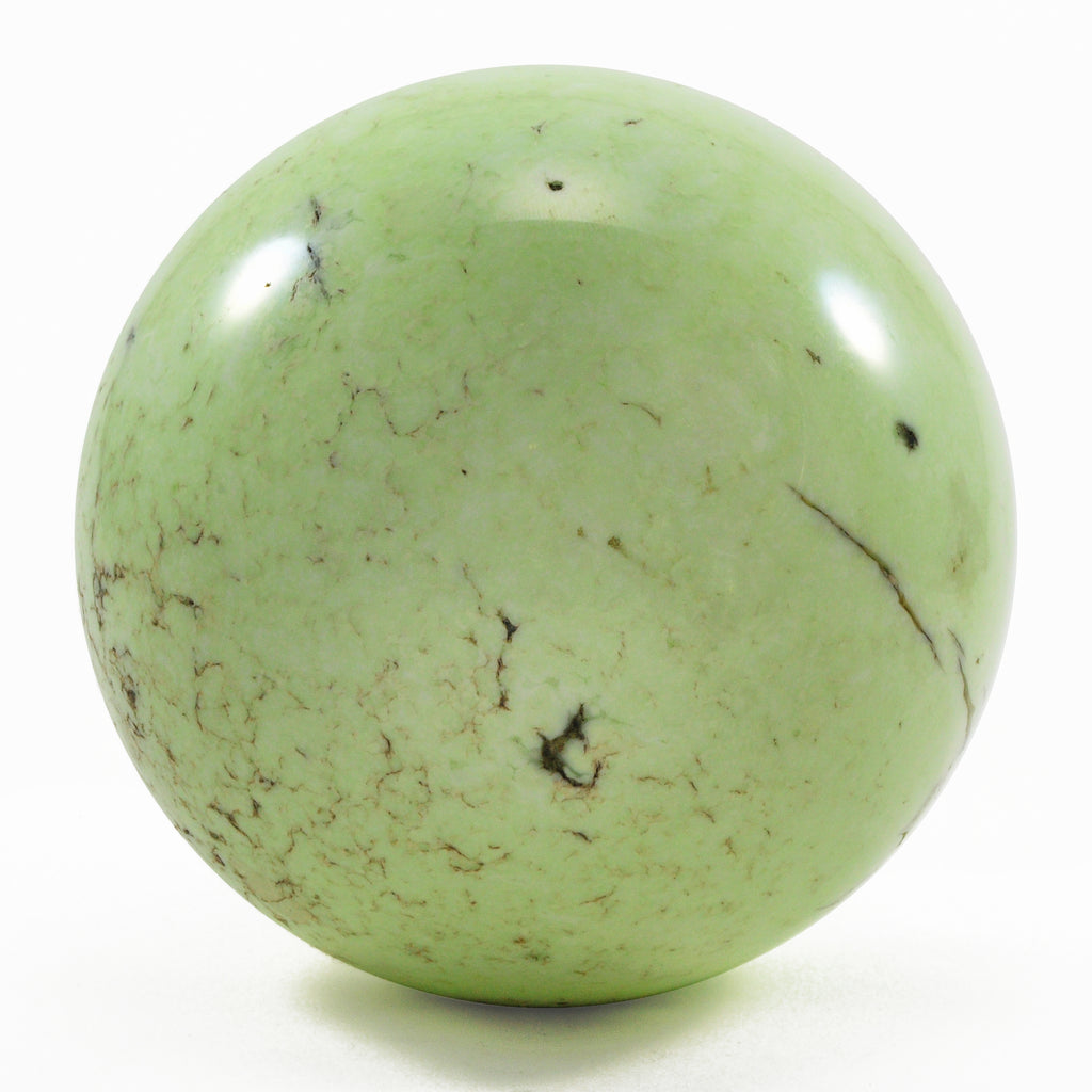 Citron Chrysoprase 3.67 inch Natural Crystal Sphere