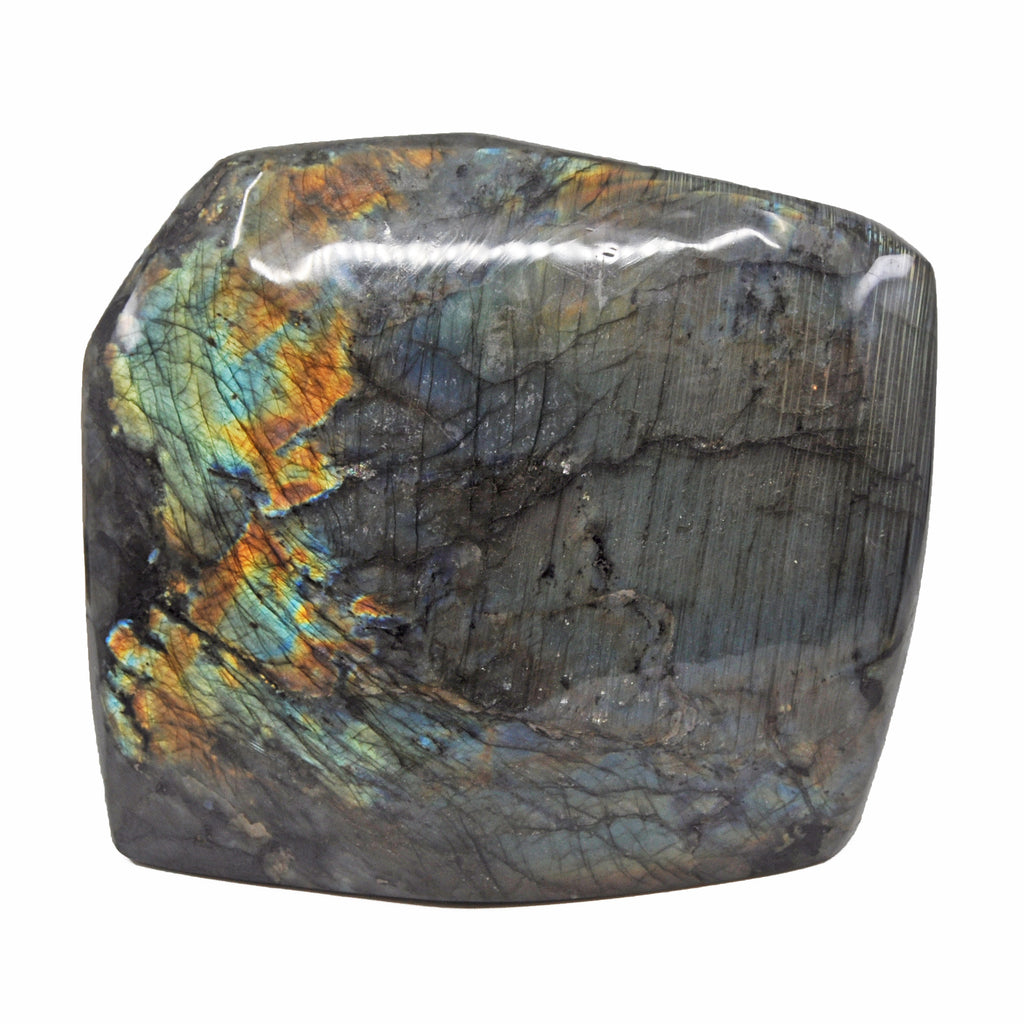 Labradorite 9.8 inch 28 lbs Polished Natural Crystal Specimen - Madagascar