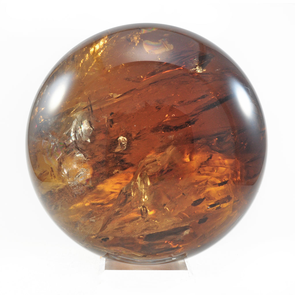 Smoky Citrine 6 inch 11.2 lbs Natural Crystal Polished Sphere - Brazil