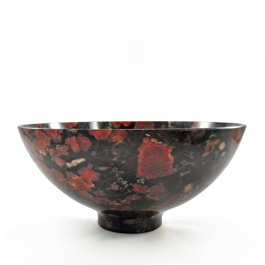 Spinel in Matrix 5.9 inch 0.68 lbs Natural Crystal Carved Bowl - India