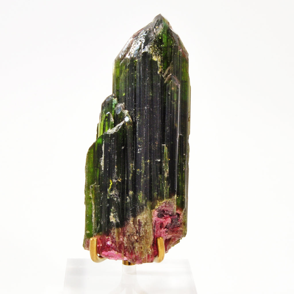 Green and Pink Tourmaline 3 inch 78.2 gram Natural Gem Crystal Specimen - Brazil
