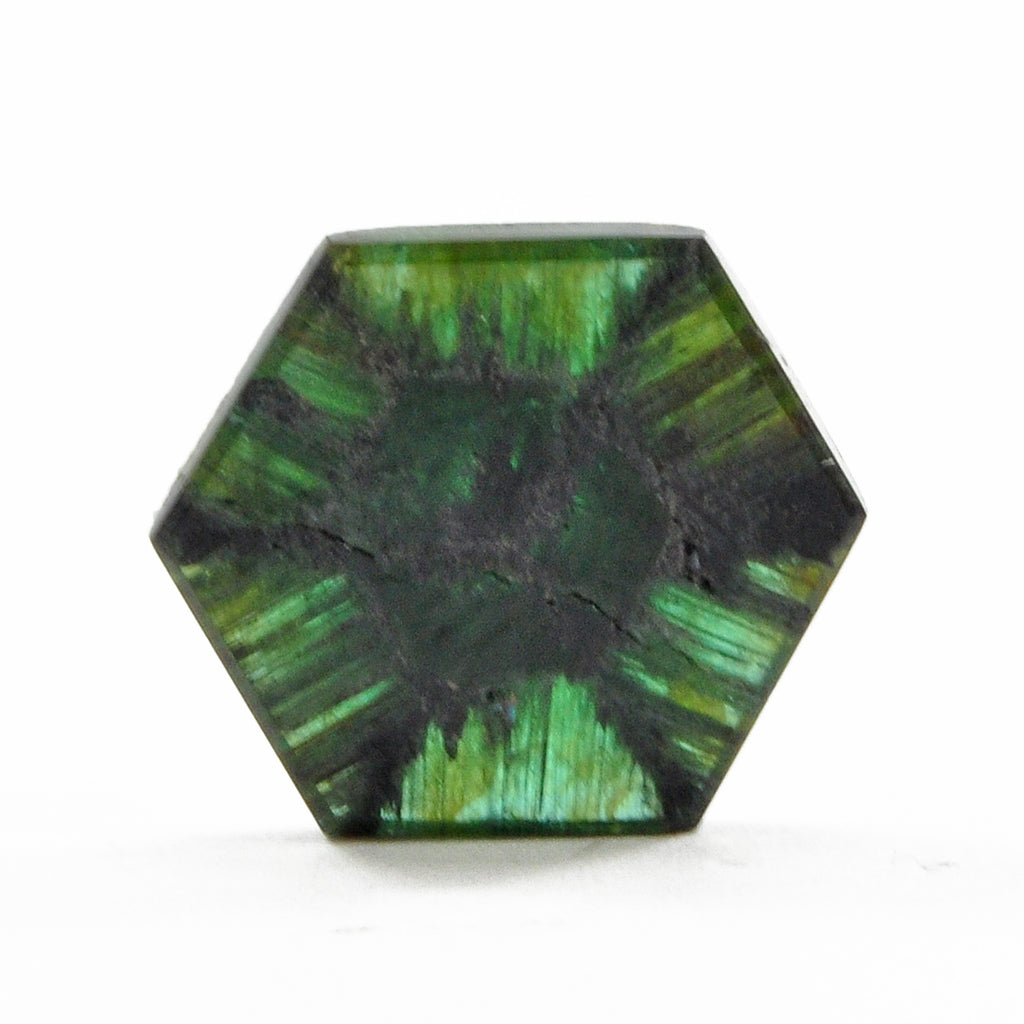 Trapiche Tourmaline 15.38 mm 6.18 carat Gemstone Cabochon - Colombia