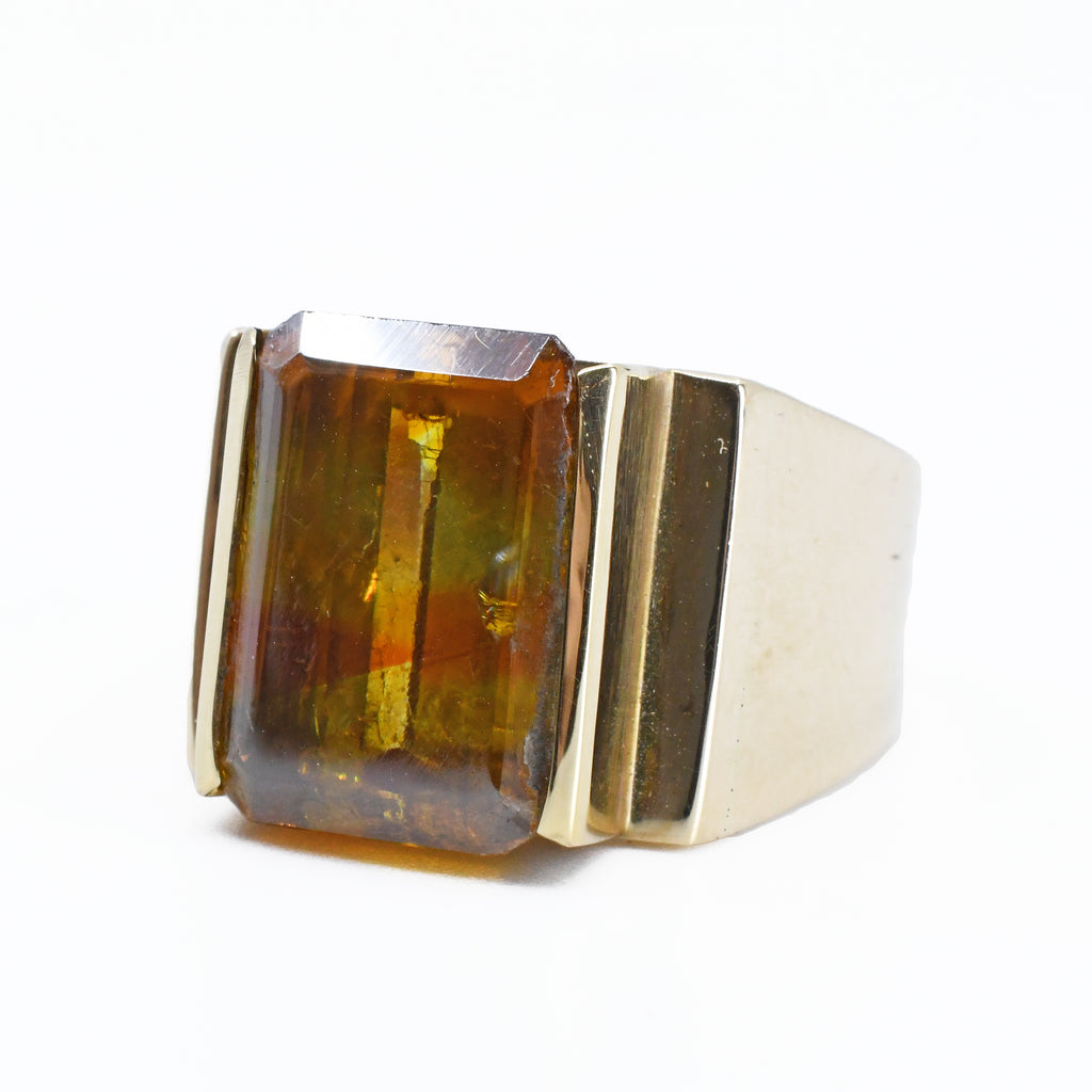 Sphalerite Gem  Faceted 14kt Ring