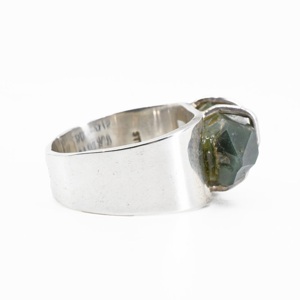 Chlorite in Quartz 7.9ct Natural Crystal Handcrafted Sterling Silver Ring