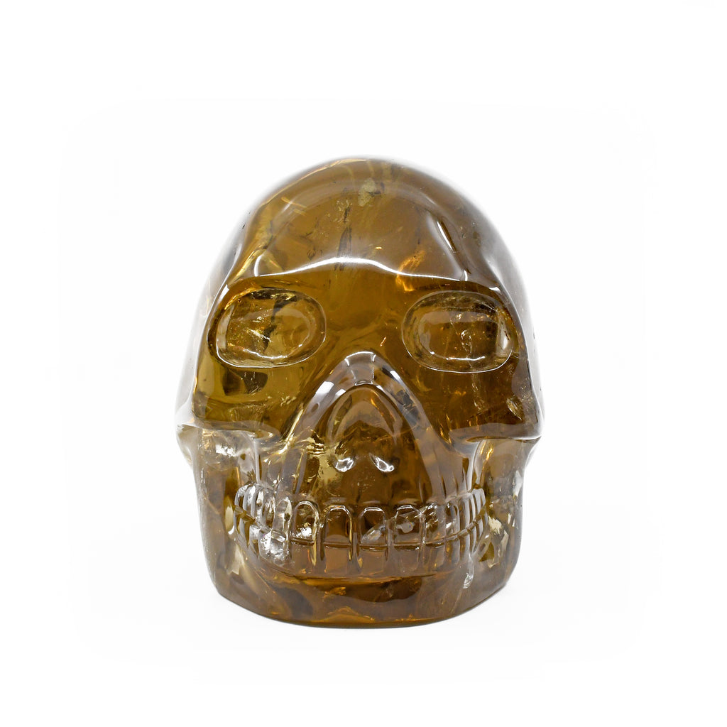 Citrine 5.51 inch 5.6 lbs Carved Crystal Skull