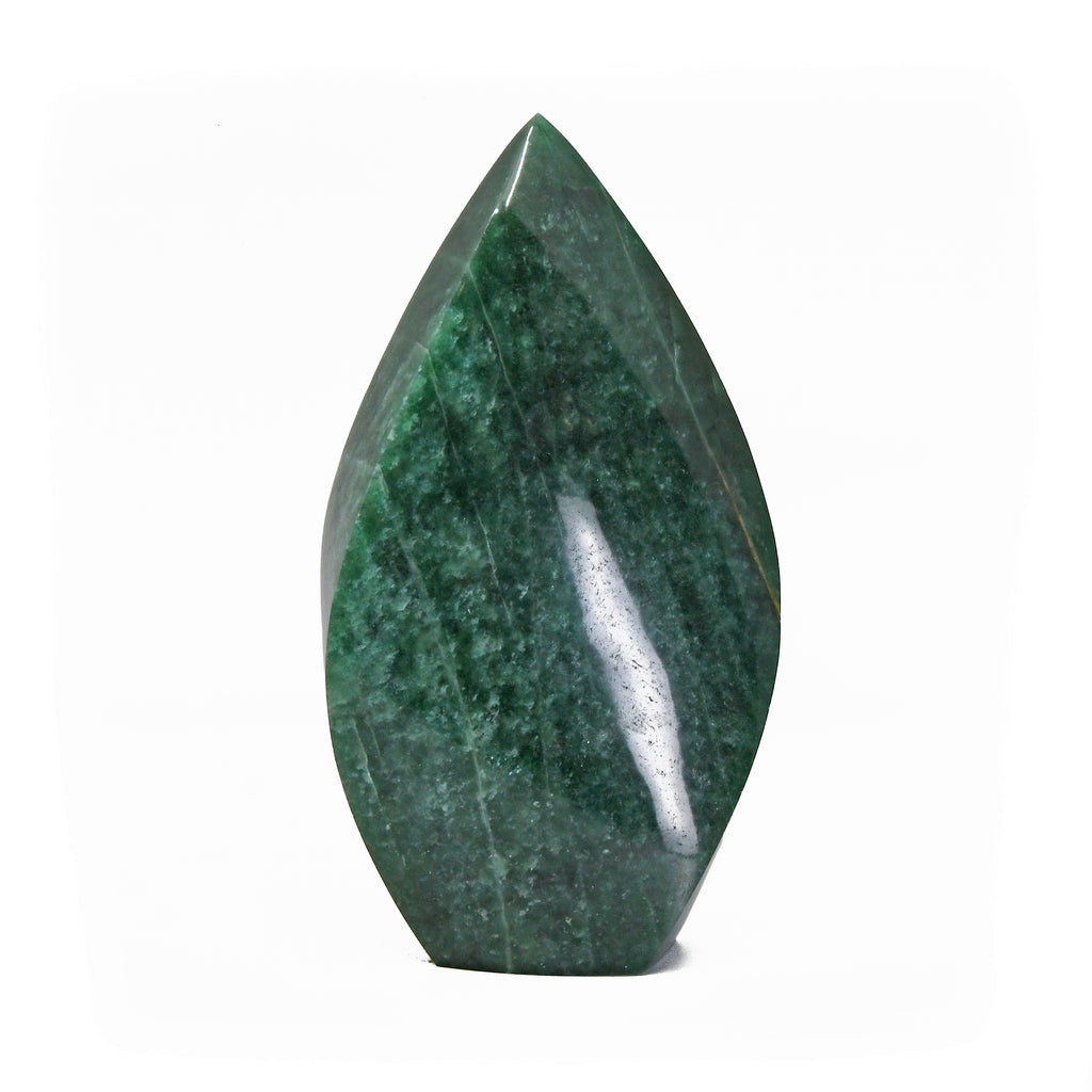 Aventurine 10.5 inch 8.10 Polished Natural Crystal Flame - Brazil