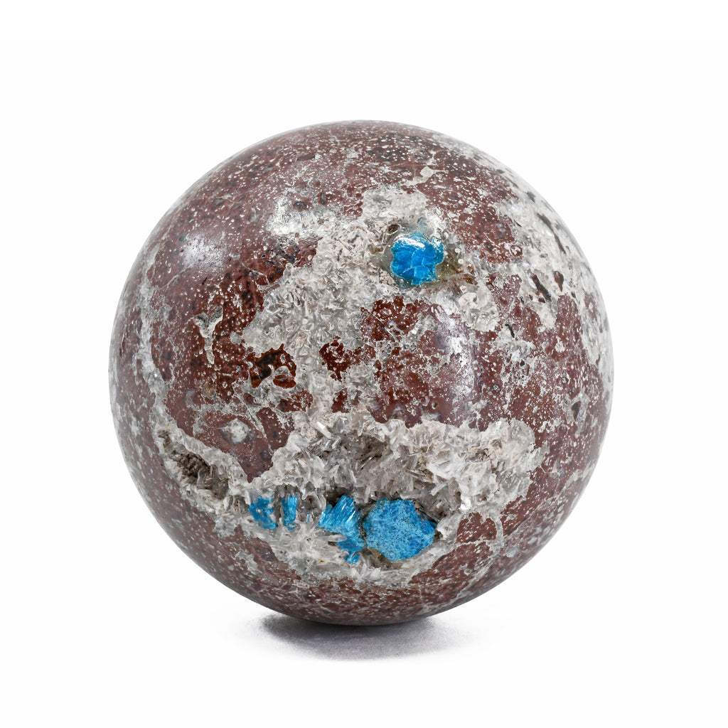 Cavansite in Matrix 2.29 inch .55 lbs Natural Crystal Sphere - India