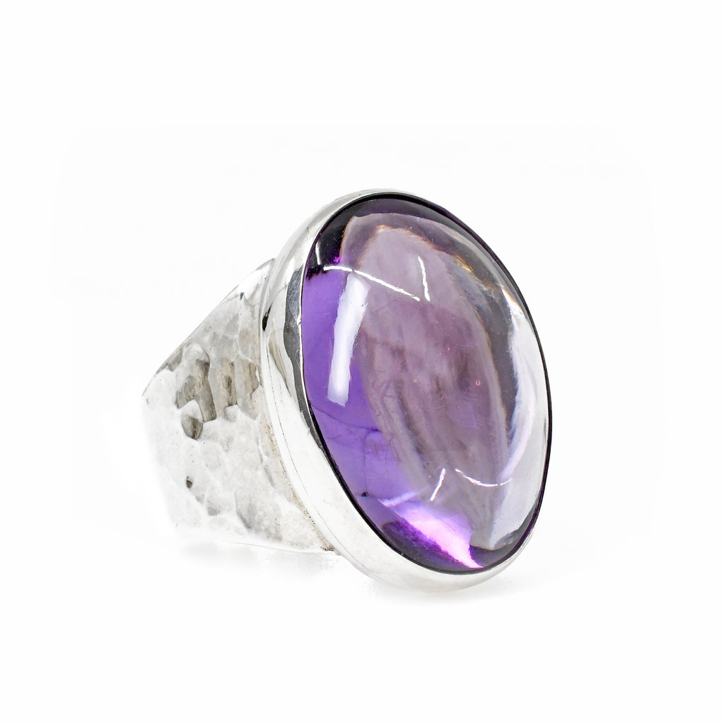 Amethyst 16.15ct Cabochon Handcrafted Sterling Silver Gemstone Ring