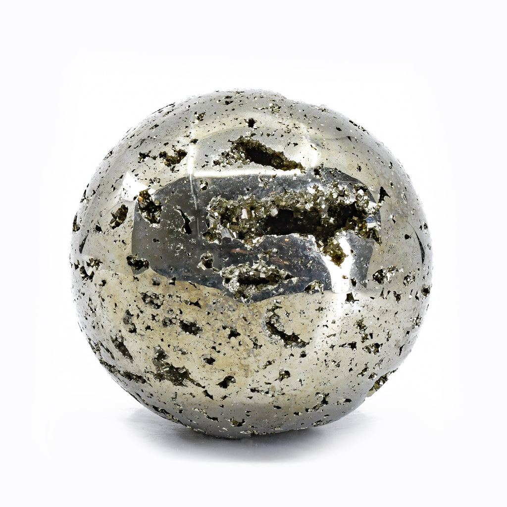 Pyrite 3.4 inch 3 lbs Natural Crystal Sphere