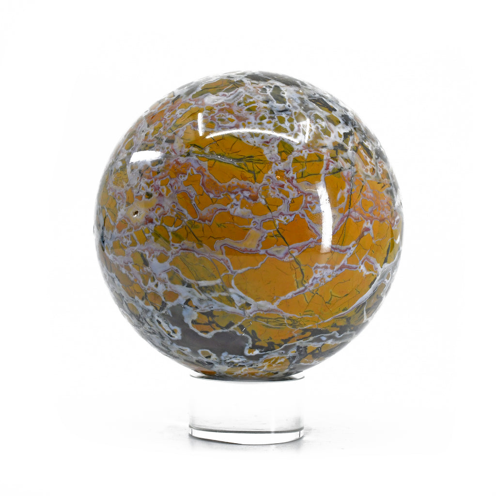 Stone Canyon Jasper 3.9 inch 3.1 lbs Polished Crystal Sphere - Oregon