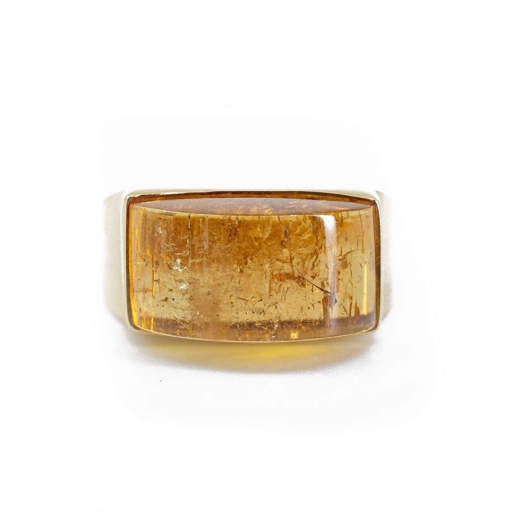 Imperial Topaz 14k Handcrafted Gemstone Ring
