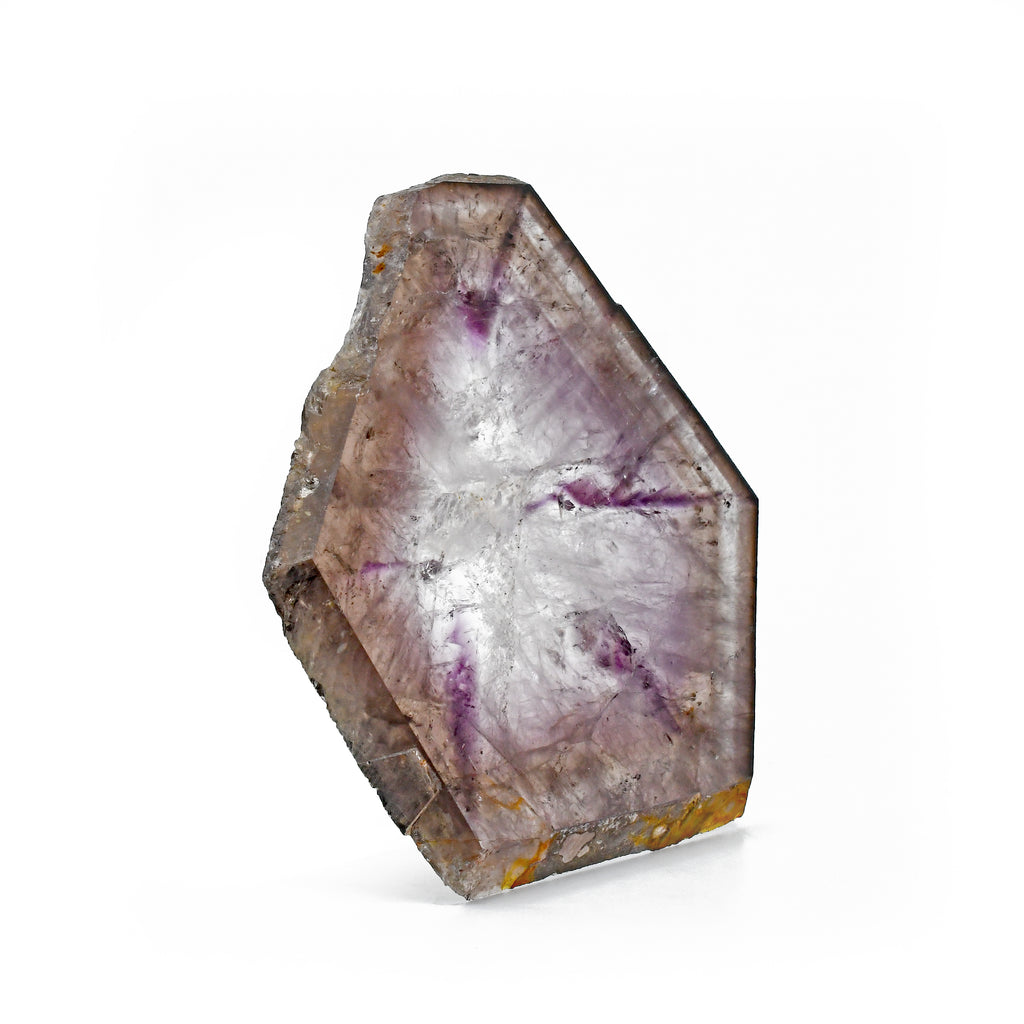 Trapiche Amethyst 3.93 inch .24 lbs Natural Crystal Polished Slice