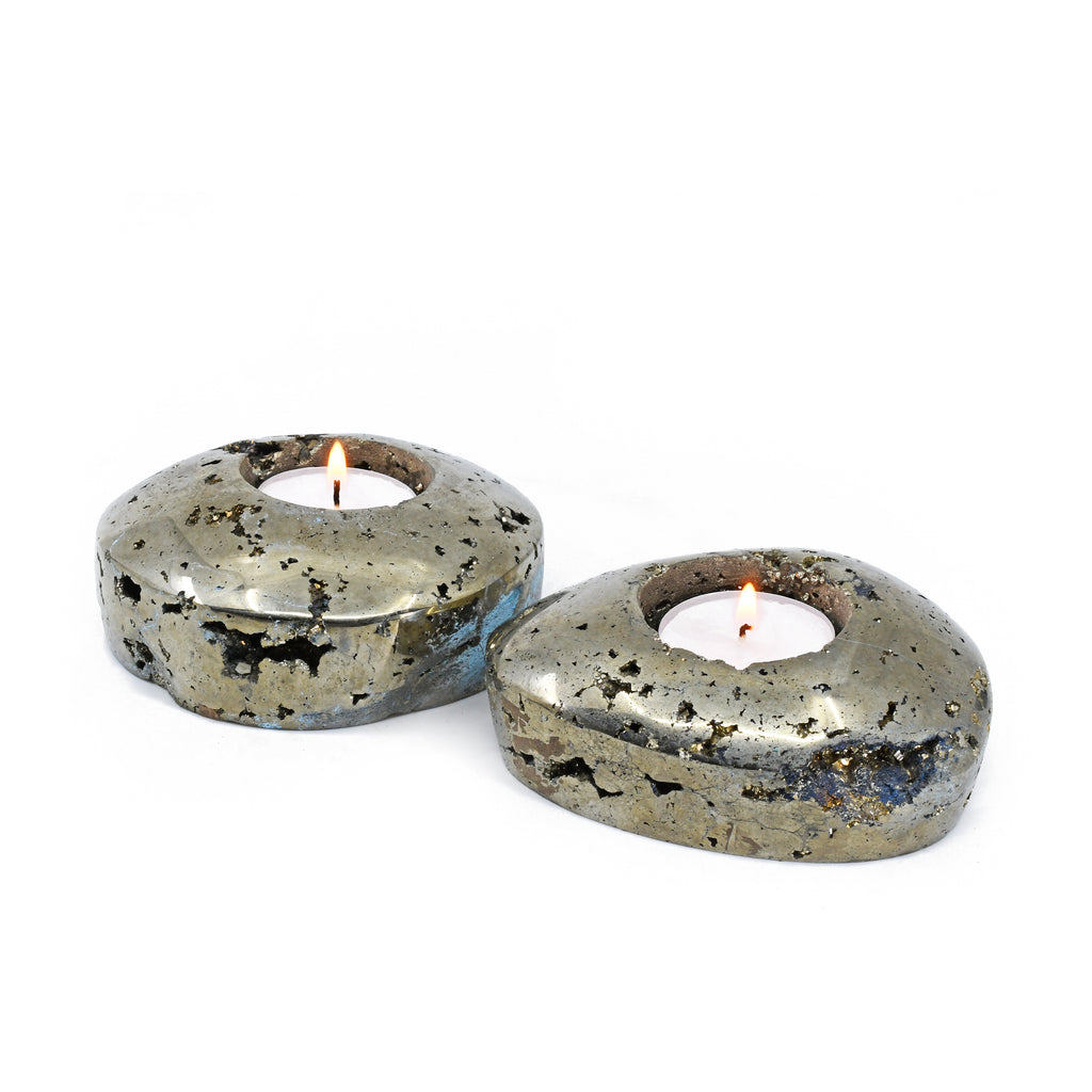 Pyrite Votive Pair Gift Set