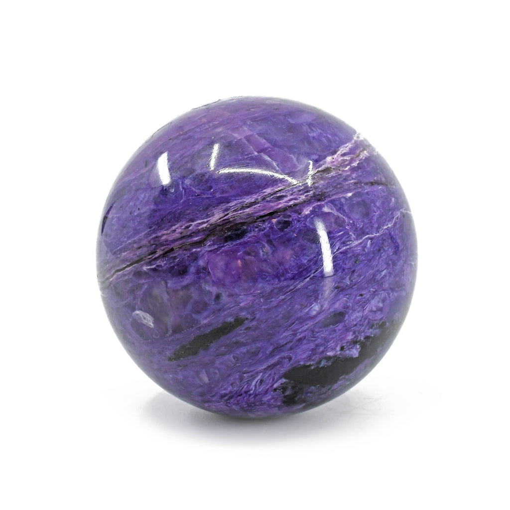 Charoite 2.13 inch 212 grams Natural Crystal Polished Sphere - Russia