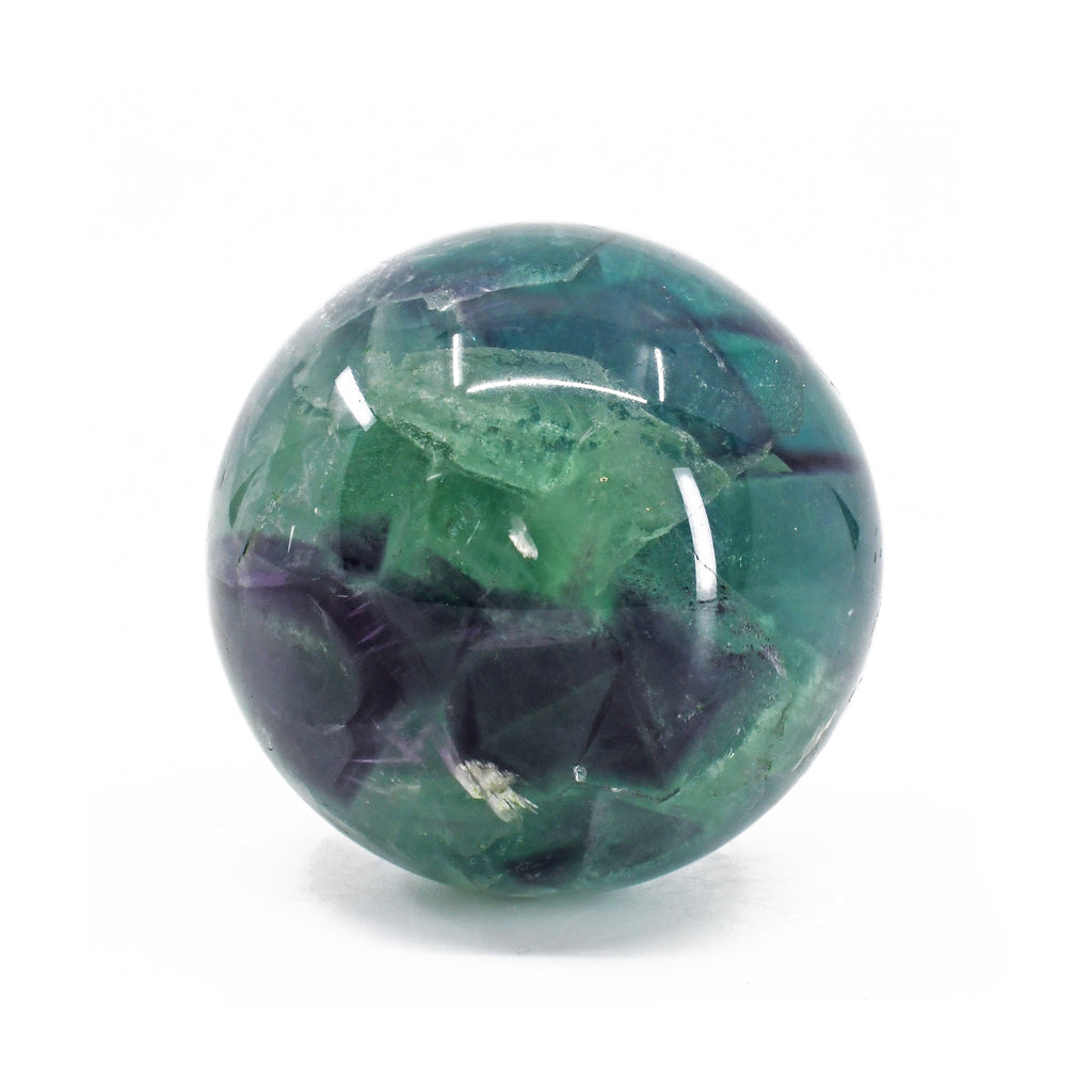 Fluorite 1.96 inch 208 grams Natural Crystal Polished Sphere - China